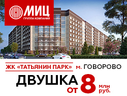 ЖК «Татьянин парк» 800 метров до метро! Ипотека 7,2%.